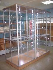 новые стекляные  торговые витрины ( любая ф/о,  доставка)